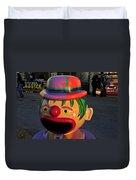 Carnival Clown Duvet Cover