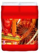Carnival Lights  Duvet Cover by Garry Gay