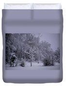 Carolina Snowfall Duvet Cover