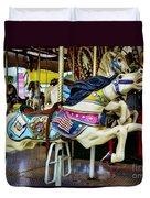 Carousel - Horse - Jumping Duvet Cover