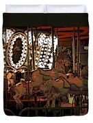 Carousel At Night Duvet Cover