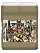 Carousel Cat Duvet Cover