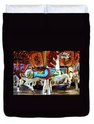 Carousel Horse With Fish Duvet Cover
