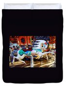 Carousel Horse With Leaves Duvet Cover