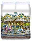 Carousel Ride In Pittsburgh Pennsylvania Duvet Cover