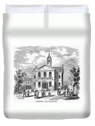Carpenters Hall, 1855 Duvet Cover