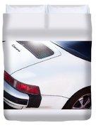 Carrera Porsche White Backend  Duvet Cover