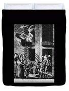 Carriage Cartoon, 1776 Duvet Cover