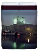Carrickfergus Castle & Harbour, Co Duvet Cover