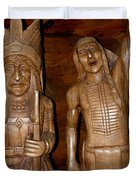 Carved American Indians Duvet Cover