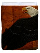 Carved Eagle Duvet Cover