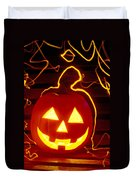 Carved Pumpkin Smiling Duvet Cover by Garry Gay