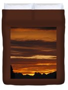 Cascade Mountains Sunrise 2 Duvet Cover