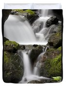 Cascading Creek In Temperate Rainforest Duvet Cover