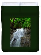 Cascading Falls Duvet Cover by Frozen in Time Fine Art Photography