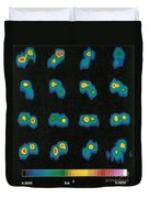 Castalia Asteroid Sequence, False-color Duvet Cover by Science Source
