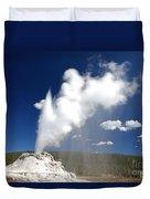 Castle Geyser Erupting Duvet Cover