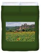 Castle In Dordogne Region France Duvet Cover