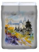 Castle Of Veves Belgium Duvet Cover