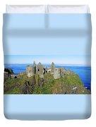 Castle On A Cliff, Dunluce Castle Duvet Cover