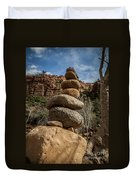 Castle Rock Cairn Duvet Cover by Darcy Michaelchuk