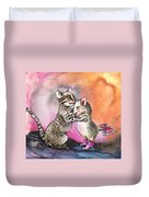 Cat And Mouse Reunited Duvet Cover