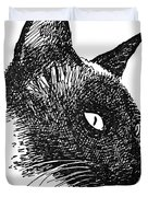 Cat Drawings 5 Duvet Cover