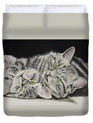 Cat Friends Duvet Cover