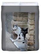 Cat Guardians Duvet Cover
