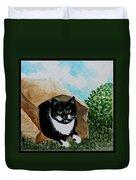 Cat In The Bag Duvet Cover