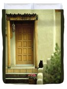 Cat Post Duvet Cover