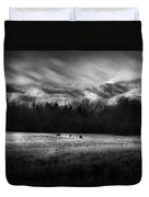 Cataloochee Elk Grazing The Fields Duvet Cover