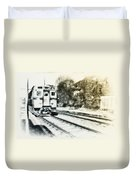 Catch That Train Duvet Cover