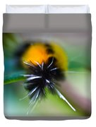 Caterpillar In Abstract Duvet Cover
