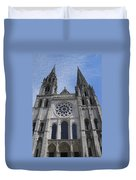 Cathedral At Chartres Duvet Cover