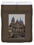 Cathedral At Santiago De Compostela Duvet Cover