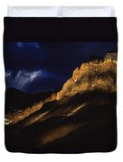 Cathedral Crags At Dusk, Yoho National Duvet Cover