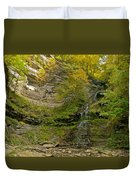 Cathedral Falls West Virginia Duvet Cover