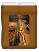Cathedral Statue Milan Italy Duvet Cover
