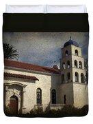 Catholic Church Old Town San Diego Duvet Cover