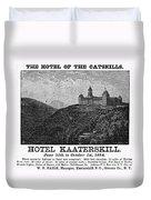 Catskills Hotel, 1884 Duvet Cover