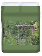 Cattails In The Garden Duvet Cover