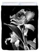 Cattleya - Bw Duvet Cover