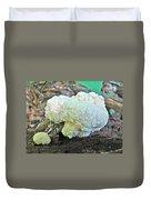 Cauliflower Mushroom On Log Duvet Cover