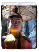 Cave Buddha Duvet Cover by Adrian Evans
