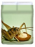 Cave Cricket Eating An Almond 2 Duvet Cover