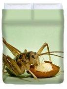 Cave Cricket Feeding On Almond 8 Duvet Cover