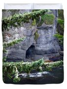 Cave Of The Bay Duvet Cover