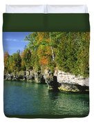 Cave Point Cove Duvet Cover