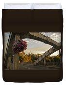 Caveman Bridge Arch And Flowers Duvet Cover